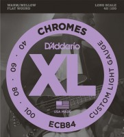Фото - Струны DAddario XL Chromes Bass Flat Wound 40-100
