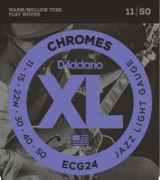 Фото - Струны DAddario XL Chromes Flat Wound Jazz 11-50