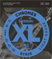 Фото - Струны DAddario XL Chromes Flat Wound 12-52