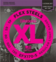Фото - Струны DAddario XL FlexSteels 5-String Bass 45-130