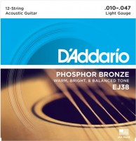 Струны DAddario Phosphor Bronze 12-String 10-47