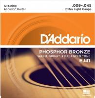Струны DAddario Phosphor Bronze 12-String 9-45