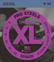 Струны DAddario XL ProSteels 9-42