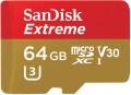 Карта памяти SanDisk Extreme V30 microSDXC UHS-I U3 64Gb