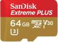Карта памяти SanDisk Extreme Plus V30 microSDXC UHS-I U3 64Gb
