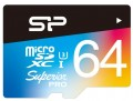 Карта памяти Silicon Power Superior Pro Color microSDXC UHS-I Class 10 64Gb