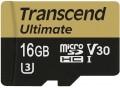 Карта памяти Transcend Ultimate V30 microSDHC Class 10 UHS-I U3 16Gb