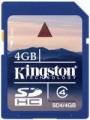Карта памяти Kingston SDHC Class 4 4Gb