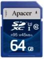 Карта памяти Apacer SDXC UHS-I 95/45 Class 10 64Gb