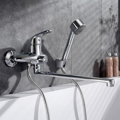 Начинаем водные процедуры: ТОП-5 смесителей с длинным изливом для ванны и умывальника