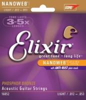 Струны Elixir Acoustic Phosphor Bronze NW Light 12-53