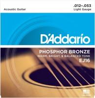 Струны DAddario Phosphor Bronze 12-53
