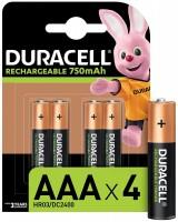 Фото - Аккумулятор / батарейка Duracell  4xAAA 750 mAh