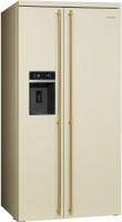 Холодильник Smeg SBS8004P бежевый