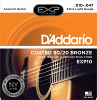 Фото - Струны DAddario EXP Coated 80/20 Bronze 10-47