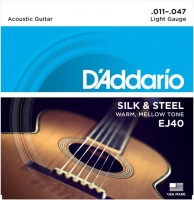 Струны DAddario Folk Silk and Steel 11-47