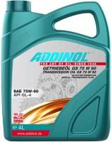 Фото - Трансмиссионное масло Addinol Getriebeol GS 75W-90 4л