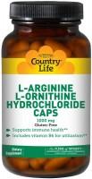 Фото - Аминокислоты Country Life L-Arginine/L-Ornithine Hydrochloride 90 cap