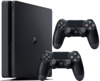 Фото - Игровая приставка Sony PlayStation 4 Slim 1000ГБ 2 геймпада + игра