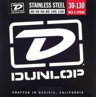 Струны Dunlop Stainless Steel 6-String Bass Medium 30-130