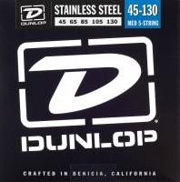 Струны Dunlop Stainless Steel 5-String Bass Medium 45-130