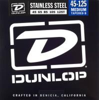 Струны Dunlop Stainless Steel  5-String Bass Medium TB 45-125