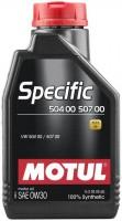 Моторное масло Motul Specific 504.00-507.00 0W-30 1л