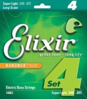 Струны Elixir Bass Nanoweb 40-95