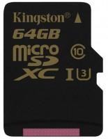 Карта памяти Kingston Gold microSDXC UHS-I U3  64ГБ