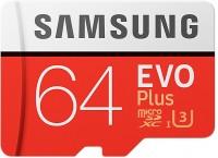 Карта памяти Samsung EVO Plus 100 Mb/s microSDXC UHS-I U3 64Gb