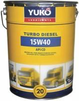 Моторное масло Yukoil Turbo Diesel 15W-40 20л