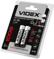 Аккумуляторная батарейка Videx 2xAA 1000 mAh