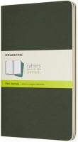 Фото - Блокнот Moleskine Set of 3 Plain Cahier Journals Large Green