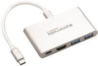 Картридер/USB-хаб Promate uniHub-C