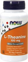 Фото - Аминокислоты Now L-Theanine 90 cap