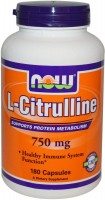 Фото - Аминокислоты Now L-Citrulline 750 mg 180 cap