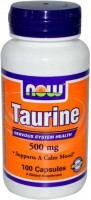 Фото - Аминокислоты Now Taurine 500 mg 100 cap
