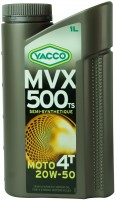 Моторное масло Yacco MVX 500 TS 4T 20W-50 1л