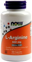 Фото - Аминокислоты Now L-Arginine 500 mg 100 cap