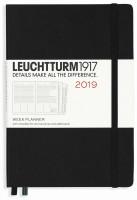 Ежедневник Leuchtturm1917 Weekly Planner Vertical Black