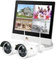 Комплект видеонаблюдения Partizan Outdoor Wireless Kit LCD 1MP 2xIP