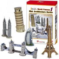 3D пазл CubicFun Mini Architecture Series 1 C056h