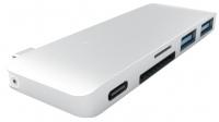 Картридер/USB-хаб Satechi Type-C USB 3.0 Passthrough Hub