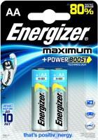 Фото - Аккумулятор / батарейка Energizer Maximum  2xAA
