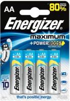 Фото - Аккумулятор / батарейка Energizer Maximum  4xAA