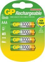 Аккумуляторная батарейка GP Rechargeable  4xAAA 1000 mAh