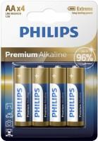 Фото - Аккумулятор / батарейка Philips Premium Alkaline 4xAA