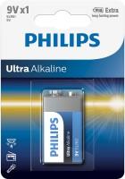 Аккумуляторная батарейка Philips Ultra Alkaline 1xKrona