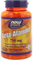 Фото - Амінокислоти Now Beta-Alanine 750 mg 120 cap