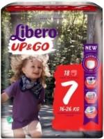 Подгузники Libero Up and Go 7 / 18 pcs